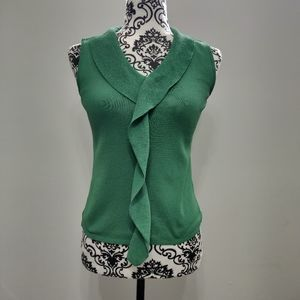 Forest Green Frill Blouse Casual Business Office